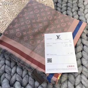 Adicionar papel de marca HandbagTop Super Silk cashme Cashmere misturado lenço para as mulheres tecidos avançadas macias Lenço de design de luxo longo impresso xaile