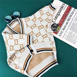 Köpek Giyim Sonbahar Kış Kıyafet Marka Kazak Hırka Schnauffa Bulldog Teddy Pomeranian Pug Kedi Pet Kostüm