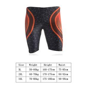 Swimming Trunks Men Quick Dry Breathable Print Boxer Swimsuit Nylon Spandex Water Sports Summer Beach Bathing Shorts Wear Men's Swimwear