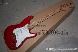 hgfrt freies Verschiffen hochwertig rote Flamme Ahorn Gitarre Golden Hardware benutzerdefinierte Körper elektrische Gitarre auf Lager