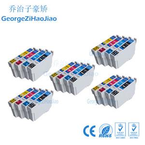 Venda inteira ZH 20 Cartuchos De Tinta T1811 T1812 T1813 T1814 Compatível Para Epson XP-212 XP-312 XP-315 XP-215 XP-415 Impressora