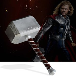 1 Thor Hammer Cosplay Silahlar Film Rol Oynama: Marvel Thor Hammer Oyuncak Thor'un rakam Metal Hammer PU / metal Çocuklar Hediye 1 efsaneler