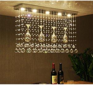 Kristal kombinasyonu led Tavan Işık Lig restoran LED kristal restoran yemek masası Kristal ışık tavan lambaları
