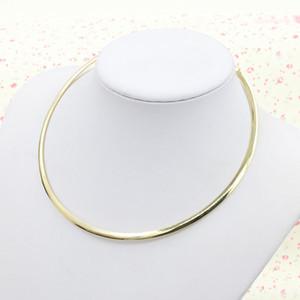 عشر قطع / قطع قلادة مفتوحة اختناقات حلقة دائرية Torques الذهب الفضي قلادة المجوهرات القوطية المطلية