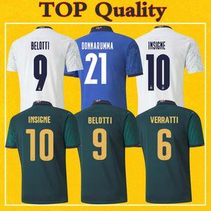 Мужские детский 2020 Италия-Джерси дома в гостях третий футбол Джерси Инсинье, Иммобиле 20 21 Майо Итали высокое качество футбол рубашки