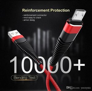 Flexible USB Cable High Tensile 2A Charging Data Nylon Braid Type-C Cable Cord For Android Samsung Huawei Charger Sync Cables 1M
