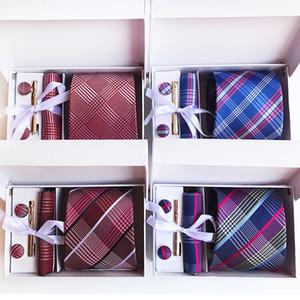 180 стилей шейный галстук пейсли 8 см мужской галстук шелковый галстук свадебные аксессуары деловой галстук комплект галстука (галстук + зажимы для галстука + запонки + платок + коробка)