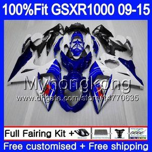 Впрыск для SUZUKI GSX R1000 K9 GSXR 1000 09 10 11 12 13 15 16 302HM.0 GSXR1000 2009 2010 2011 2012 2014 2015 2016 обтекатель Фабрика синий