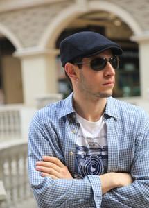 Wholesale-газетчик Шляпы Fation европейский и американский стиль Hat 5 цветов Solid Color Cotton Newsboy Шляпы Бесплатная доставка