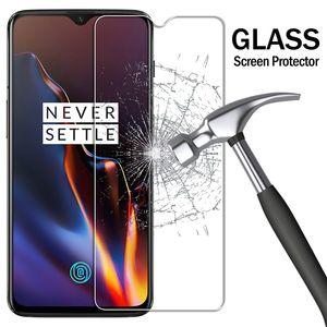 9H temperado transparente de vidro por OnePlus 3 3T 5 5T 2.5D Transparent Screen Protector Para OnePlus 1 + 6 7 T6 T7 Filme Vidro