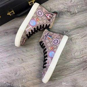 Zapatos de lujo de diseño de descuento Calzado casual Rockrunner ocio Hombres Mujeres zapatillas de la red de cuero del remiendo de pisos barata de las muchachas Mejor Pista