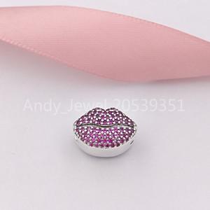 Auténtico 925 Sterling Silver Beads Beso Más encanto encantos se adapta al estilo europeo joyería de Pandora collar de las pulseras 796562CZR