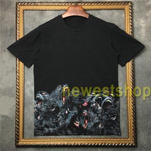 2020 hot summer men clothing monkey brother Rottweiler 3D t shirt women short sleeve T Shirt Men Designer T Shirts cotton tee tops