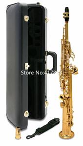 علامة مارجويت عالية الجودة S-901 b flat Soprano Saxophone الآلات الموسيقية النحاسية Sx With Case Mouthpecess Free Shipping