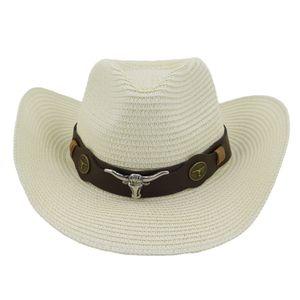 Ao ar livre Das Mulheres Dos Homens de Papel Cowboy Chapéus Handwork Artificial Praia Chapéu De Palha Estilo Americano Ocidental Sombreros Chapéu Cap Sombrero