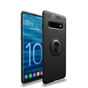 Magnetic ring stand telefon case für samsung galaxy s10 s10 lite s10 plus volle abdeckung tpu anti-shock auto halter case