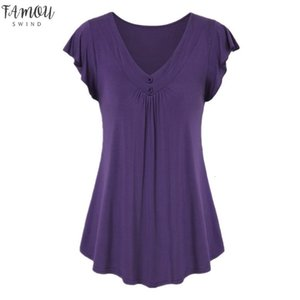 Sagace Womens Fashion Female T Shirt Casual Summer Sexy Solid Color Short Sleeve Tshirt Women Cotton Plus Size 6Xl Shirt