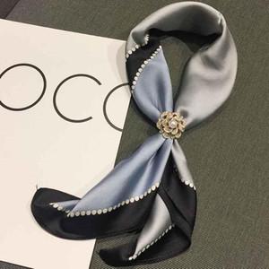 Femmes Polyester écharpe à carreaux Dot Luxe Châles Marque Head Wrap Designer Echarpes Table Couverture Serviette de plage pour cadeau