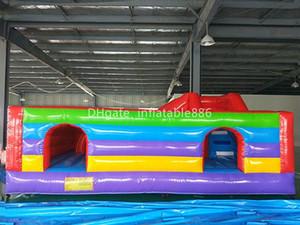 Juegos inflables de la casa de la despedida Gorila inflable del trampolín del precio de fábrica interior y al aire libre con obstáculos para el uso comercial