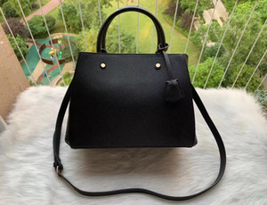 Alta calidad de lujo de bolsos monederos Montaigne bolsa de asas totalizador de las mujeres Marca Carta de grabación en relieve cuero Bolsa de hombro