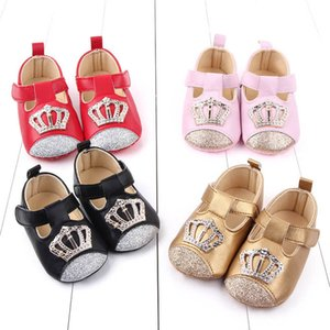 2020 new crown baby shoes sequin baby girl shoes princess toddler shoes moccasins soft baby first walking shoe newborn shoe B1203