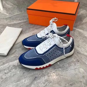 Hermes Shoes 2020 Yeni Lüks Tasarımcı Marka H Sneakers En Mischpalette Moda Erkekler Rahat Rahat Düz ayakkabı yüksek ayakkabılar MK01