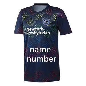 Version thaïlandaise de qualité shirt MLS Pride Pre-Match 2019 20 Hommes New York City FC Marine Pride Pre-Match Top MLS New York City FC Marine Pride Pre