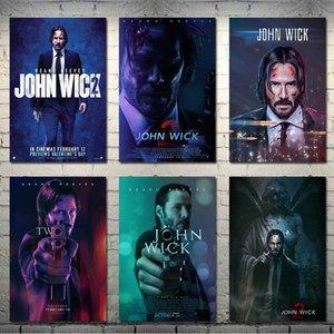 John Wick Bölüm 1 2 3 Sıcak Sinema Sanatı İpek Tuval Poster Salon Duvar Dekorasyon-002 için 13x20 24x36 inç yazdır