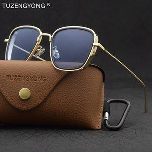 TUZENGYONG Classic Steampunk occhiali da sole di modo delle donne degli uomini di marca del progettista Vintage Piazza telaio in metallo Occhiali da sole di alta qualità