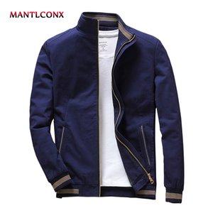 MANTLCONX 2020 весна осень мужские куртки Стенд воротник куртки Мужской Синий Черный Куртки Casual Male Марка Одежда Мужчины jaqueta 2020