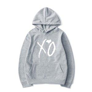 Fashion Casual Print XO Top And Hoodie Hoodie Sweatshirt For Harajuku Pullover Women Men Street Hip-hop Fashion Rtvsu