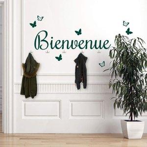 Французский приветствовать съемный виниловые Personalzied наклейки для стен наклейки мальчик комната футбол стены спальни наклейки имя Настенная наклейка
