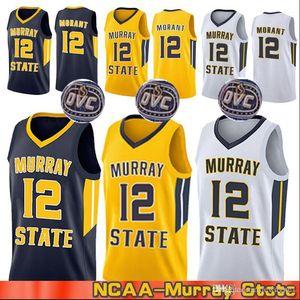 Ja Morant Murray State Racers Università 1 Sion Williamson 12 Ja Morant College Basketball Jersey Mens cucito Basketball Maglie