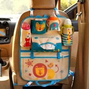 Cartoon cute Car Seat Back Storage Bags Hanging Car Organizer pockets baby supplies storage bag for Kids Children