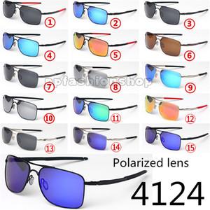 Lunettes de soleil PRIZM polarisées avec pilote, lunettes de soleil 4124, montures de métal, conduite décontractée, lunettes de soleil carrées rétro