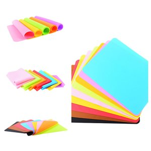 hot 40x30cm Silicone Mats Baking Liner Silicone Oven Mat Heat Insulation Anti-slip Pad Kid Table Placemat Decoration Mat Pastry ToolsT2I5993