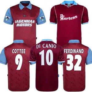 95 97 Centenaire Ouest Rétro années Cole DI CANIO Lampard Dicks 1999 00 maillot camiseta 100ème Retro 99 00 Accueil Ham rétro maillot de foot