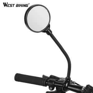 WEST bicicleta bike espelho retrovisor 360 graus Girar vista Ciclismo traseira Espelhos MTB Estrada acessórios de bicicletas guiador Espelho 1 Pcs
