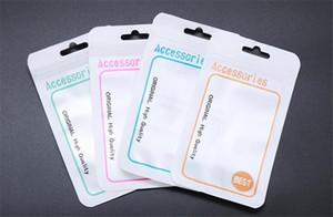 8 * 14cm 15 * usb kabloları telefon aksesuarları Kulaklık için Package Ambalaj 10.5cm Fermuar Perakende Ambalaj Kutuları OPP poli Çanta Plastik PVC