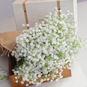 Artificial White Mini Babysbreath Flowers Plant Fake Gypsophila Paniculata Bouquet for Wedding Favors Home Decoration
