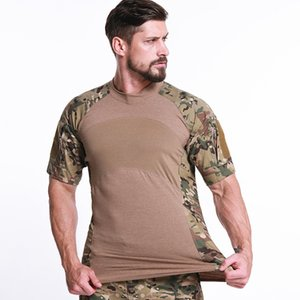 Men Hiking T-shirts Python Breathable Tactical Top Trekking Camping T-shirt Military camo shirt Quick Dry Outdoor sport Shirts