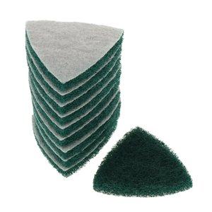 10pcs Triangle Flocage éponge disque Sandpaper 240-800 Grit polissage meuler