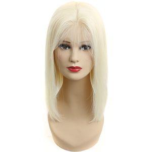 HC Hair 613 Sarışın Bob Peruk Şeffaf 13x4 Dantel Açık Kısa İnsan Saç Bob Peruk Brezilyalı Düz Remy saç% 150 Yoğunluk Ücretsiz Kargo