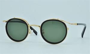 Nuovo marchio Ploarized Occhiali da sole Oliver OV5226 rotonde Occhiali da sole Retro punk da sole metallo dell'annata donne degli uomini con la scatola originale