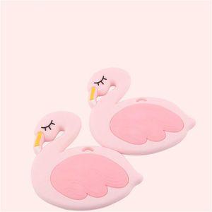 Food Grade Baby Silicone Flamingo Tooth Gel Baby Bite Music Molar Stick