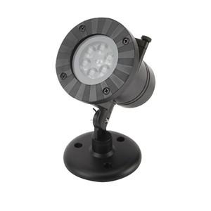 방수 야외 LED 무대 조명 12 유형 슬라이드 크리스마스 레이저 눈송이 프로젝터 램프 휴일 장식 홈 정원 잔디 램프