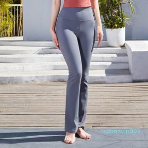 2020 spring and summer high waist lift arm abdomen yoga suit female sports fitness naked straight yoga trousers