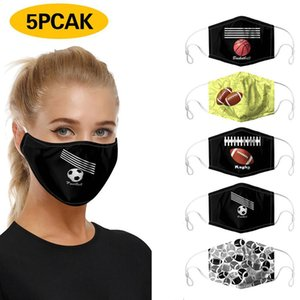 2020 new styles hot selling 3D digital printing face mask dustproof Anti-fog washable breathable reusable mask with pm2.5 filter