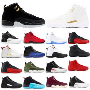 2020 Uomo Nuovo 12s 12 Reverse Taxi Ball Game reale scarpe da basket francese Blu FIBA GYM rosso ciliegia Grey Sneakers 7-13
