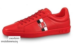 luoyuruei2018 Men red Luxembourg Sneaker 1A450F Running BOOTS LOAFERS DRIVERS BUCKLES SNEAKERS SANDALS Dress Shoes